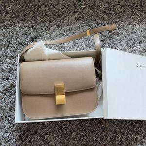 Celine Classic Box Medium Liege Calfskin taupe Bag